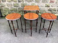 Antique Oak Nest of 4 Tables (9 of 9)
