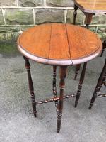 Antique Oak Nest of 4 Tables (4 of 9)