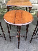 Antique Oak Nest of 4 Tables (3 of 9)