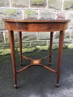 Quality Edwardian Inlaid Mahogany Table (2 of 7)