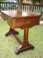 Antique Mahogany Library Table Desk in the Manner of Gillows (2 of 5)