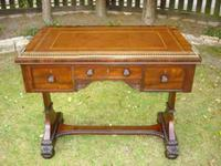 Antique Mahogany Library Table Desk in the Manner of Gillows (5 of 5)