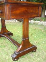 Antique Mahogany Library Table Desk in the Manner of Gillows (4 of 5)