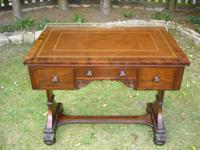 Antique Mahogany Library Table Desk in the Manner of Gillows