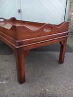Antique Mahogany Tray Top Coffee Table c.1910 (3 of 5)
