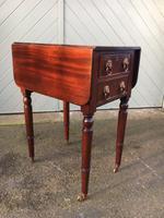 Regency Mahogany Pembroke Sewing Table