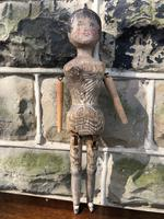 Early Primitive Wooden Articulated Doll