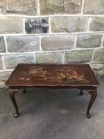 Antique Walnut & Lacquered Chinoiserie Coffee Table