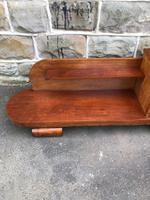 Unusual Art Deco Walnut Low Bookcase (4 of 11)