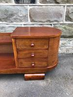 Unusual Art Deco Walnut Low Bookcase (9 of 11)