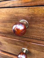 Unusual Art Deco Walnut Low Bookcase (10 of 11)