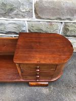Unusual Art Deco Walnut Low Bookcase (5 of 11)