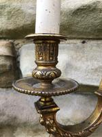 Pair of English Twin Branch Wall Lights (3 of 9)