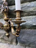 Pair of English Twin Branch Wall Lights (5 of 9)