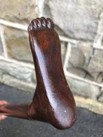 Antique Carved Foot Walking Stick (2 of 7)