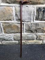 Antique Carved Foot Walking Stick (5 of 7)