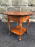 Antique Walnut Ladies Sewing Table (4 of 6)