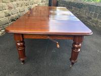 Antique Mahogany 3 Leaf Extending Dining Table (5 of 13)