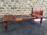 Antique Mahogany 3 Leaf Extending Dining Table (11 of 13)
