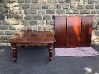 Antique Mahogany 3 Leaf Extending Dining Table (2 of 13)