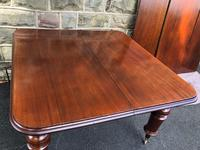 Antique Mahogany 3 Leaf Extending Dining Table (12 of 13)