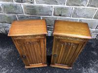 Pair of Carved Oak Bedside Cabinets (2 of 6)