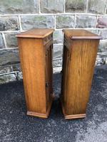 Pair of Carved Oak Bedside Cabinets (3 of 6)