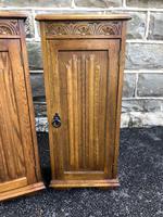 Pair of Carved Oak Bedside Cabinets (5 of 6)