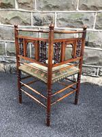 Antique Walnut Aesthetic Movement Corner Chair (5 of 6)