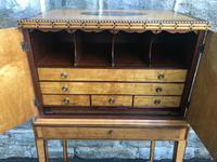 Sheration Period Satinwood & Coramandel Writing Cabinet (10 of 11)