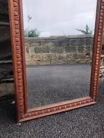 Antique Oak Tailors Outfitters Mirror (4 of 5)