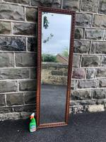Antique Oak Tailors Outfitters Mirror (5 of 5)