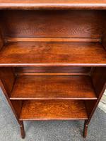 Arts & Crafts Oak Folding Bookcase (8 of 9)