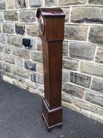 Antique Figured Walnut Granddaughter Clock (6 of 12)
