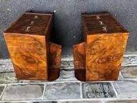 Pair of Antique Burr Walnut 3 Drawer Bedside Chest (3 of 8)