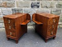 Pair of Antique Burr Walnut 3 Drawer Bedside Chest (4 of 8)
