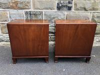 Pair of Antique Burr Walnut 3 Drawer Bedside Chest (5 of 8)