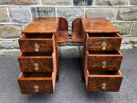 Pair of Antique Burr Walnut 3 Drawer Bedside Chest (6 of 8)