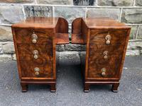 Pair of Antique Burr Walnut 3 Drawer Bedside Chest (8 of 8)
