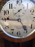 Antique Oak Cased Regulator Clock (2 of 9)