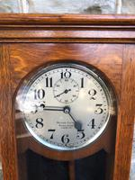 Antique Oak Cased Regulator Clock (3 of 9)
