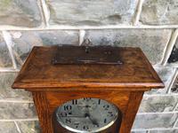 Antique Oak Cased Regulator Clock (4 of 9)