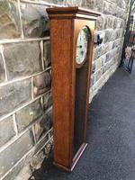 Antique Oak Cased Regulator Clock (6 of 9)