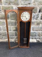 Antique Oak Cased Regulator Clock (7 of 9)