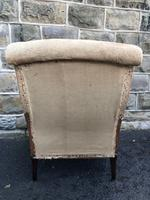 Antique English Upholstered Armchair for Recovering (6 of 7)