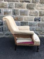 Antique English Upholstered Armchair for Recovering (7 of 7)
