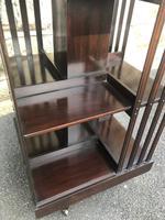 Antique Mahogany Revolving Bookcase (7 of 8)