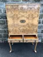 Antique Burr Walnut Cocktail Cabinet by Epstein (9 of 9)