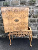 Antique Burr Walnut Cocktail Cabinet by Epstein (8 of 9)