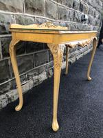 Antique Burr Walnut Console Table by Epstein (7 of 7)
